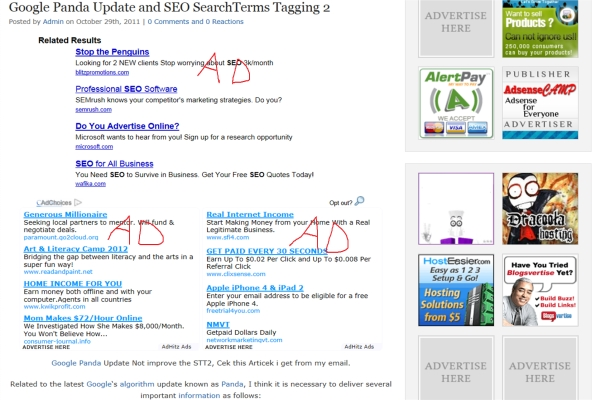 Ads Above The Fold Example image