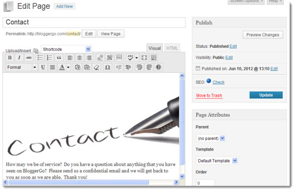 Creating A Contact Page image